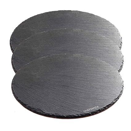 CAN_Deal Plato de piedra pizarra negro cuadrado 25 cm ...