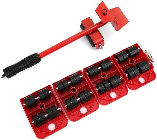 rouge Outils de D/ém/énagement de Meubles Lourds Outil de D/éplacement dObjets Lourds pour Meubles Mobiles de Transport