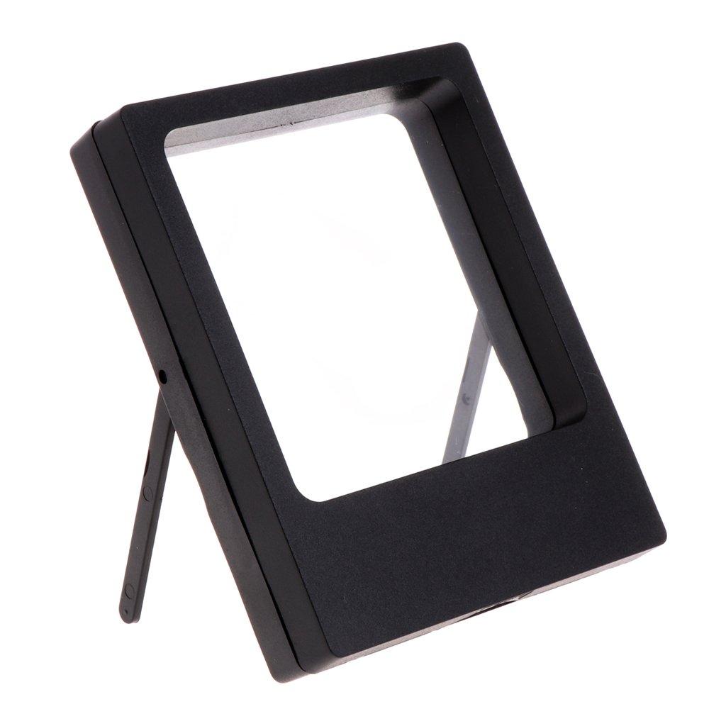 Misright透明フィルムジュエリー表示ボックスサスペンション正方形リングホルダーストレージフレーム 3.54x4.33x0.79'' ブラック B077HJWNNH