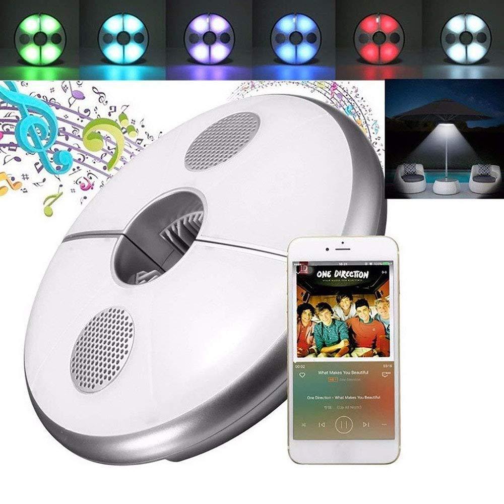 パラソルライト ポールテント キャンプライト Bluetoothスピーカー付き 充電式緊急ライト USB充電用USBハブ付き 64個のLED   B07NXVHXRM