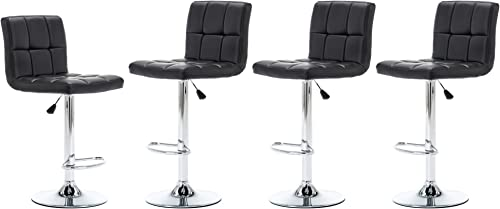 NOBPEINT Square Back Adjustable Swivel Bar Stool