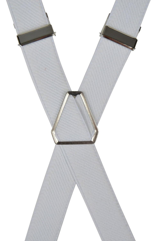 Magro Stile 2cm larghezza Bianco Olata Classico Bretelle elastiche per Donne X-Forma
