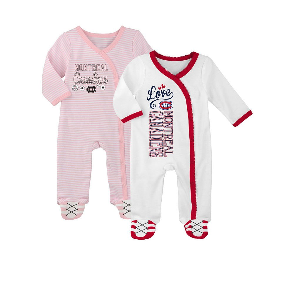 Montreal Canadiens Newborn Girls 2nd Period 2-Piece Long Sleeve Coverall Set Outerstuff