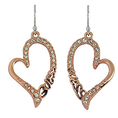 Boucles d'oreilles guess or rose