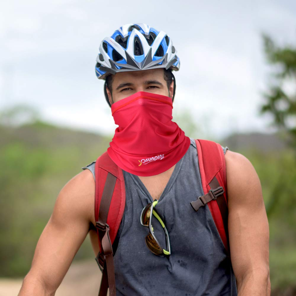 Sun UV Dust Protection Windproof for Cycling Hiking Running YOSUNPING Summer Breathable Neck Gaiter Half Face Mask