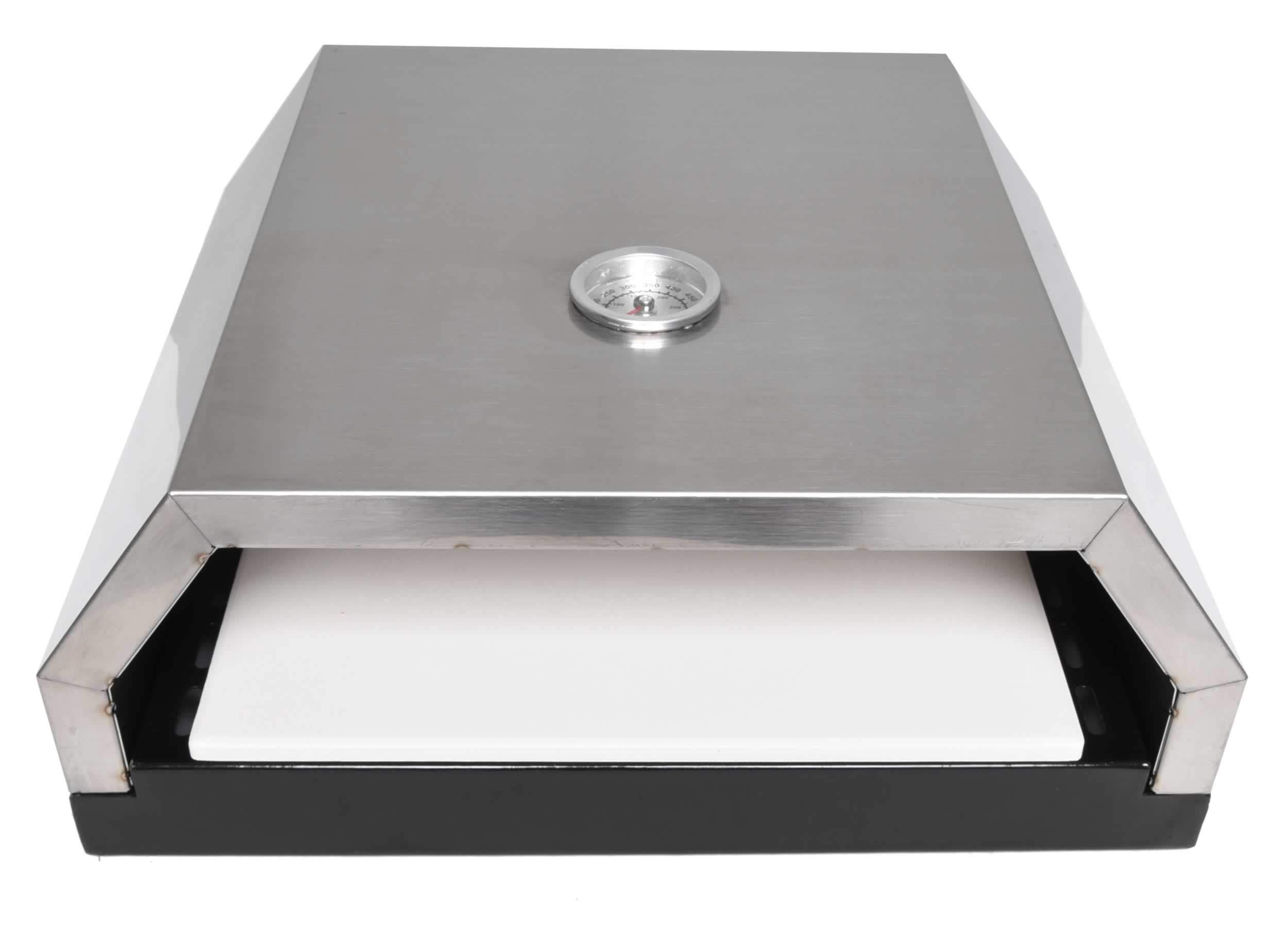 Zenvida Grill Top Pizza Oven with Stone for Gas or Charcoal Grill by Zenvida