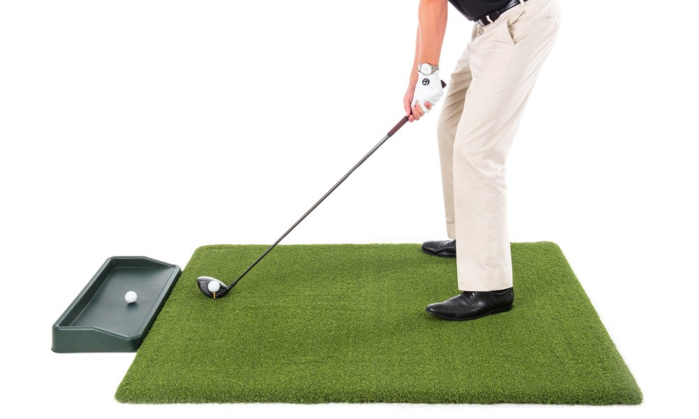 All Turf Mats Super Tee Golf Mat with Tray – 5 feet x 5 feet