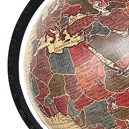 Decorative Rotating Globe 13 Beige Ocean World Geography Earth Home Decor