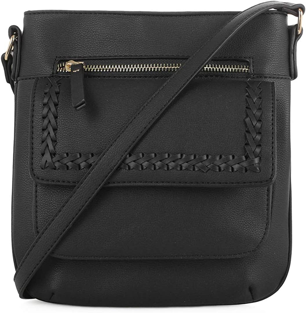 EMPERIA Denim Whipstitch Crossbody Bag Purse for Woman