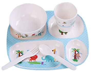 Practical Baby Eating Plates Childrenu0027s Tableware Cute Points Tray ...  sc 1 st  Amazon.com & Amazon.com : Practical Baby Eating Plates Childrenu0027s Tableware Cute ...