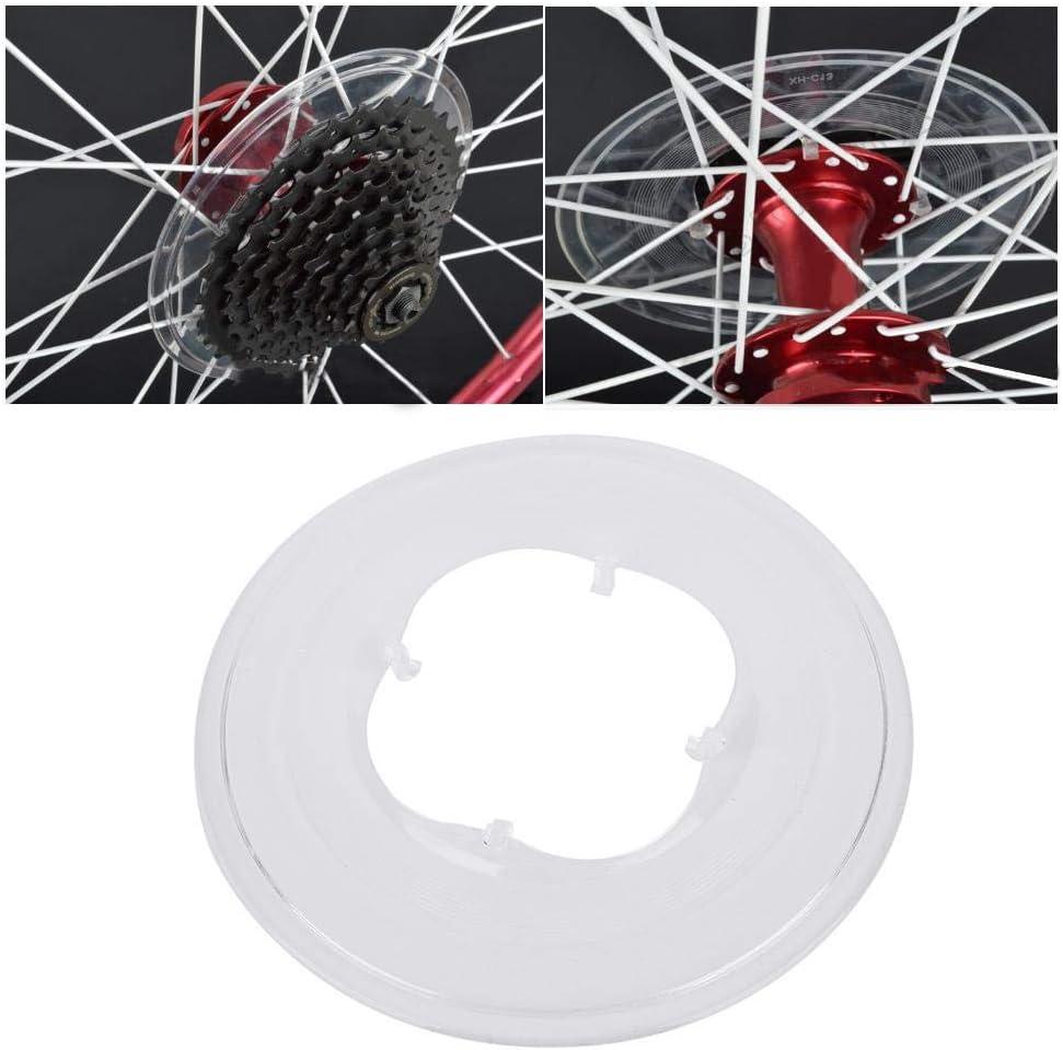 dise/ño de 4 garras Disco de pl/ástico ABS Protector de radios de rueda libre transparente para proteger la cadena Reducci/ón de sedimentos en el volante Soporte para volante de bicicleta Protector de
