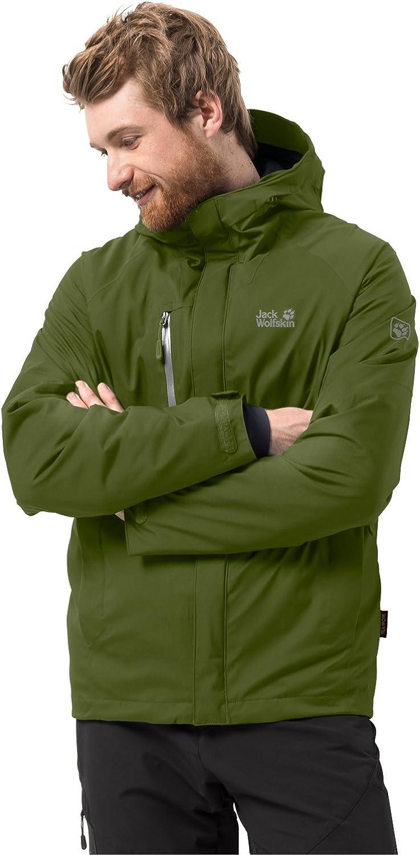 Jack Wolfskin Troposphere Men, sehr warme Winterjacke für Herren, wasser & winddichte Outdoor Jacke für Herren, Windbreaker für Männer mit