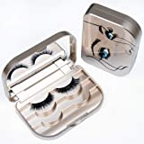 False Eyelash Case Organizer 3-Tier Eyelash Box With Mirror Travel Storage Container Strip Eyelash Holder Packaging (Luxury G
