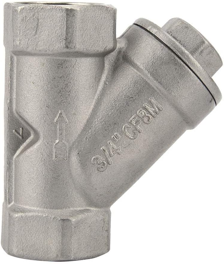 DN20 nobrands Y Strainer 304 Stainless Steel Y Shaped Strainer Female Thread Strainer Filter Valve G3//4