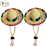 Running Pet Dogs Sombrero Hat Dogs Sun Hat Party Hats for Dogs Mexican Style Hat for Dogs and Cats Funny Dog Costume