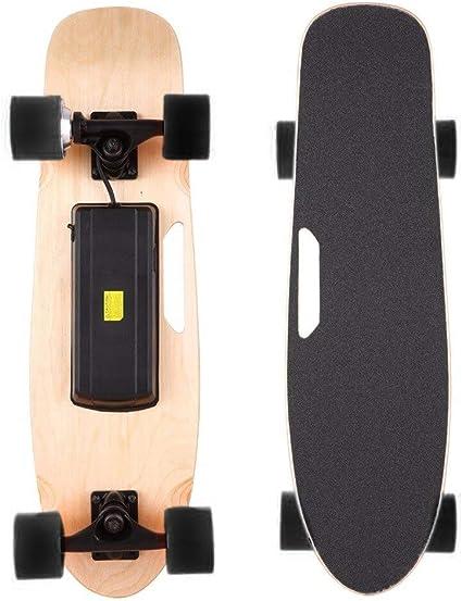 Geschwindigkeit 20km//h Max Reichweite 10 km Longboard E Komplettboard Elektrisches City Skateboards Elektrolongboard mit Fernbedienung und 250W Motor