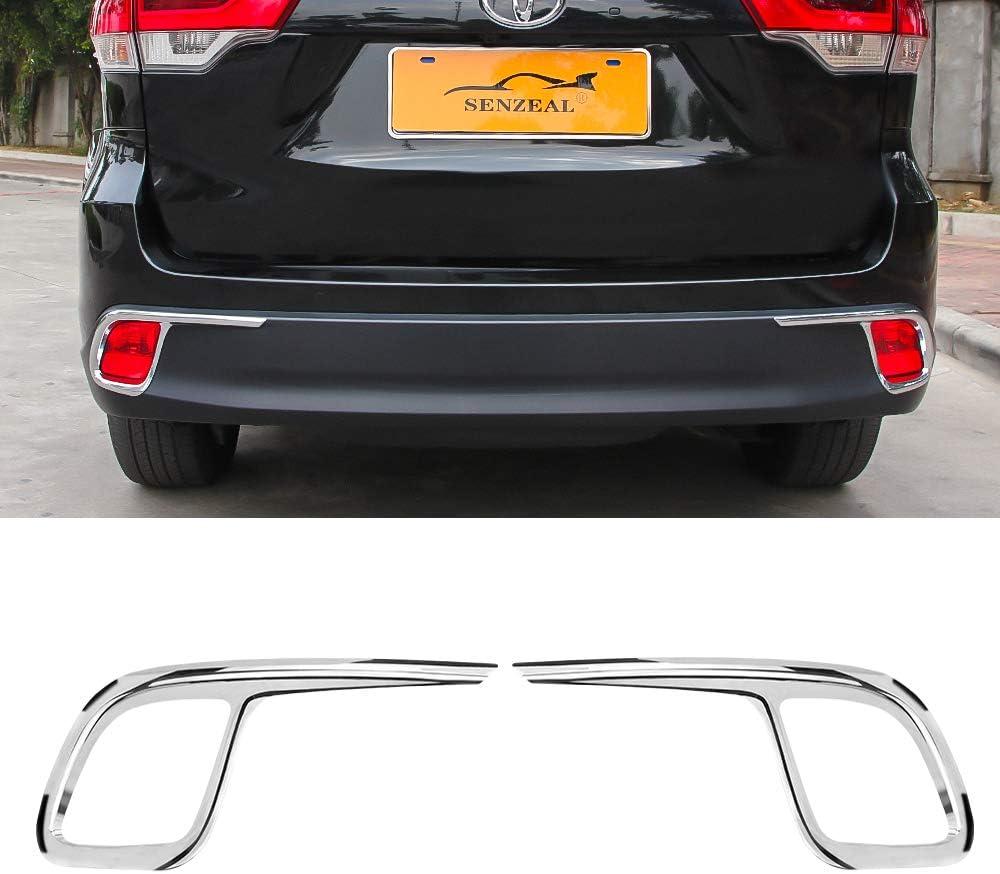 Fit For Toyota Highlander 2015-2018 Chrome Rear Fog Light Lamp Cover Trims