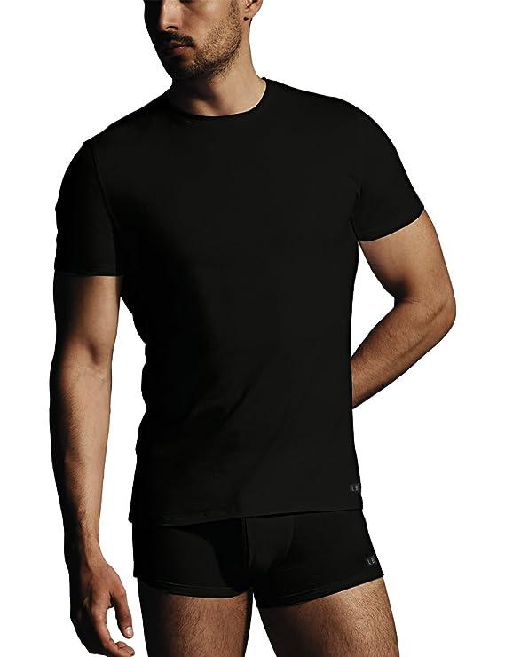 Lovable Premium Stretch, Camiseta Redondo de Algodón y Cuello Vuelto, Ropa Interior para Hombre: Amazon.es: Ropa y accesorios