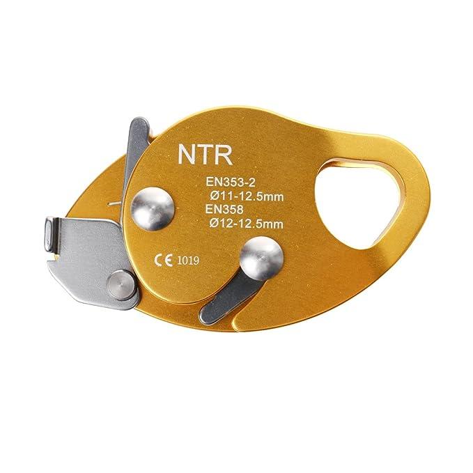 15KN Bloqueur de Corde en Alliage D/'Aluminium à 9-12mm Fil pour Escalade