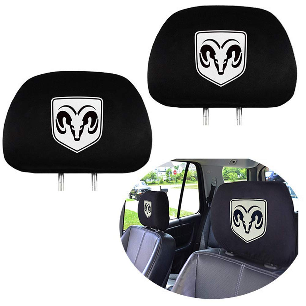 99 Carpro Headrest Covers for Dodge, Washable Car Truck SUV Van Headrest Covers for Dodge Vehicles - Set of 2 by 99 Carpro