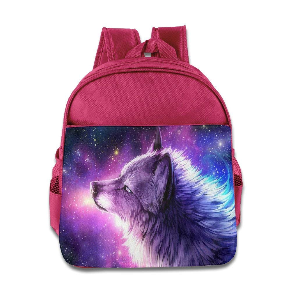 88de9b2305c4 Galaxy Wolf School Backpack for Girls Boys for Primary School Cute Bookbag  Outdoor Daypack  Amazon.co.uk  Luggage