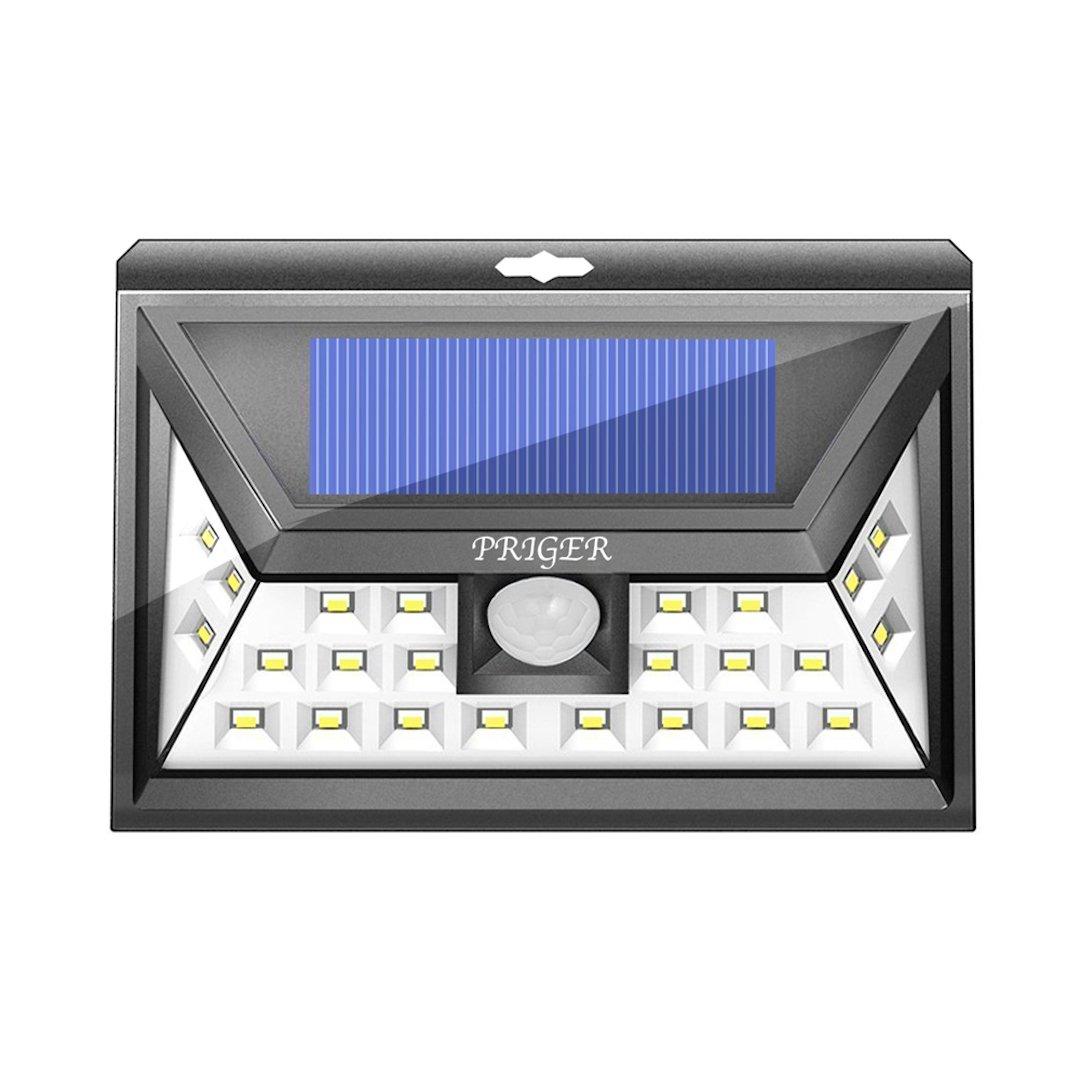 Priger Solar Lights Outdoor Motion Sensor Security Light - Outside LED Flood / Spotlight for Patio, Garden, Deck, Pathway - Waterproof Wireless Solar Powered Yard Lighting / Wall Light Luces Solares