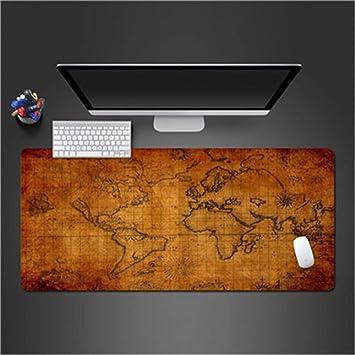 sxkdyax Mapa del Mundo Mousepad Juego Alfombrilla de ratón Gamer ...