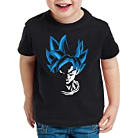 style3 Super Goku Blue God Modo Camiseta para Niños T-Shirt