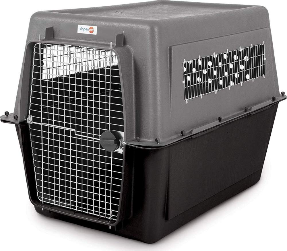 Aspen Pet Porter Heavy-Duty Pet Carrier,Dark Gray/Black,90-125 LBS by Petmate (Image #1)