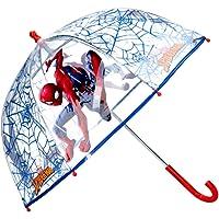 Paraguas Cúpula Transparente Manual Paraguas Niño Infantil Paraguas Spiderman Marvel 60cm