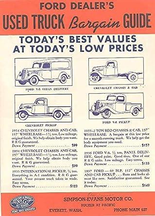Amazon com: 1934 1935 1936 1937 Chevrolet Ford Dodge Used