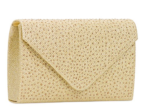 Bag Cocktail KTL2147 Ladies Rain Women's Purse Glittery Drop Glitter Silver Clutch Handbag vxIvSqOw0