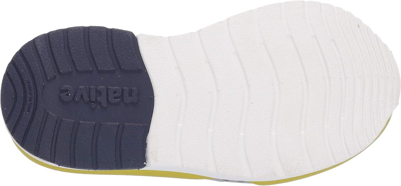 Native Kids Shoes Unisex Lennox Color Block Pigeon Grey//Shell White//Regatta Blue//Glo Green Glow Block 9 M US Toddler Toddler//Little Kid