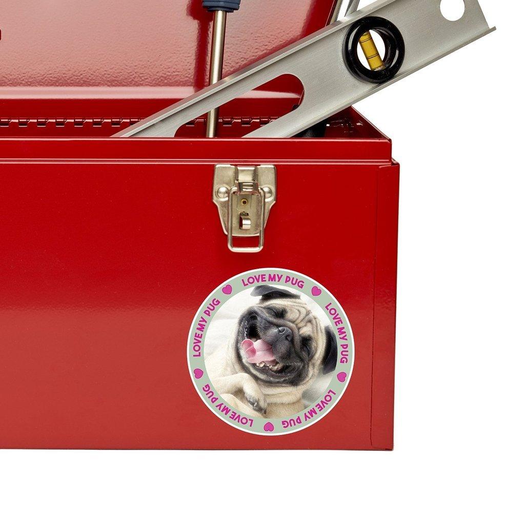2 x 10cm 100mm funny cute tan pug dog window cling sticker car van campervan glass 6144 destinationvinyl automotive