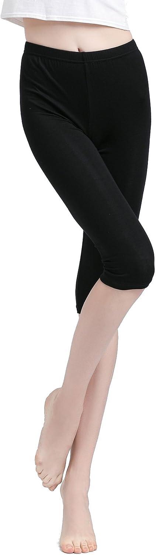 Vinconie 3/4 Leggins Cortos Mujer Short Leggings Bajo Falda ...