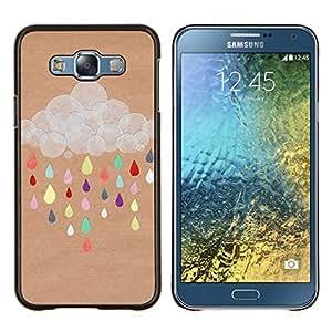 Stuss Case / Funda Carcasa protectora - Nube Dibujo colorido de Brown - Samsung Galaxy E7 E700