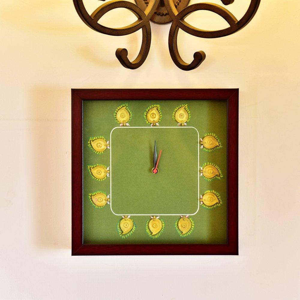 IMI Handmade Carfted Pure Dhokra Wall Hanging Wall Clock