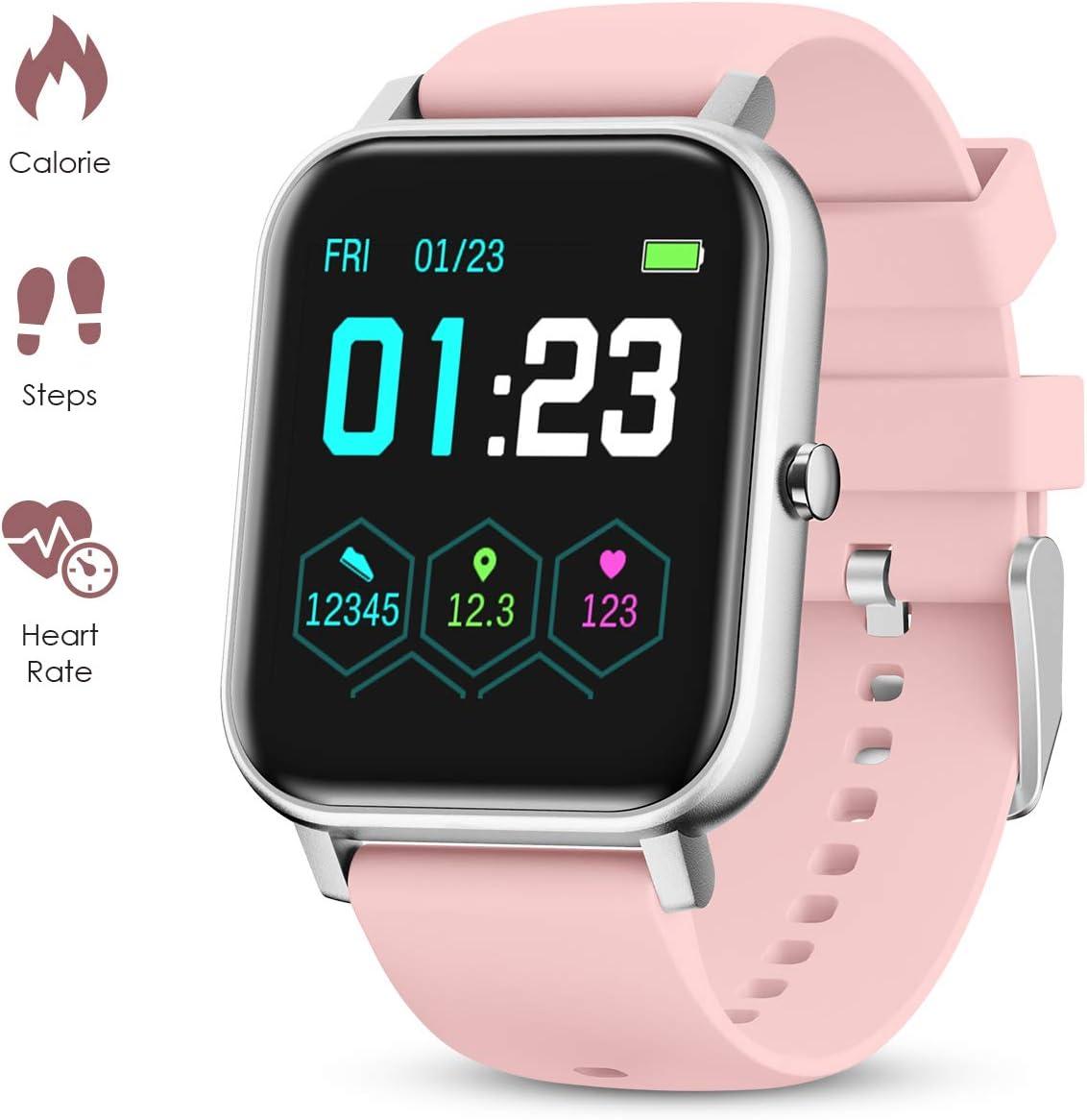 GOKOO Smartwatch Mujer Hombres Reloj Inteligente con Pantalla ...