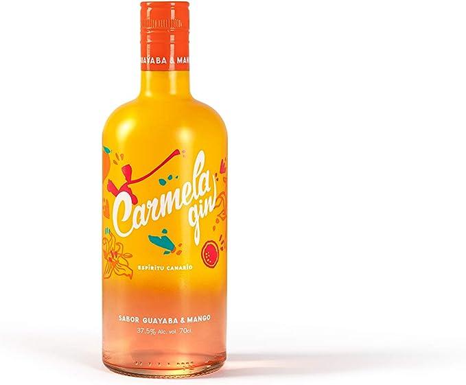 Arehucas Ginebra Carmela Mango Guayaba - 700 ml, Botella ...