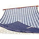 Amber Home Goods AASHP-1904 Checkered Hammock Pad, Blue