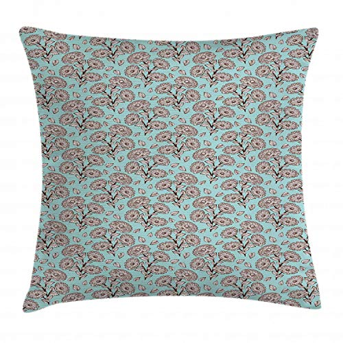 Ambesonne Floral Throw Pillow Cushion Cover, Romantic Garden