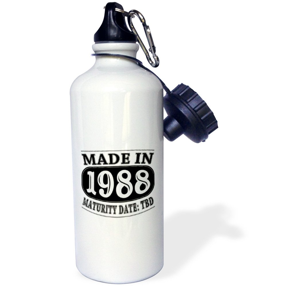 3dRose Made in 1988-Maturity Date TDB-Sports Water Bottle 21oz wb/_212521/_1 21 oz Multicolor