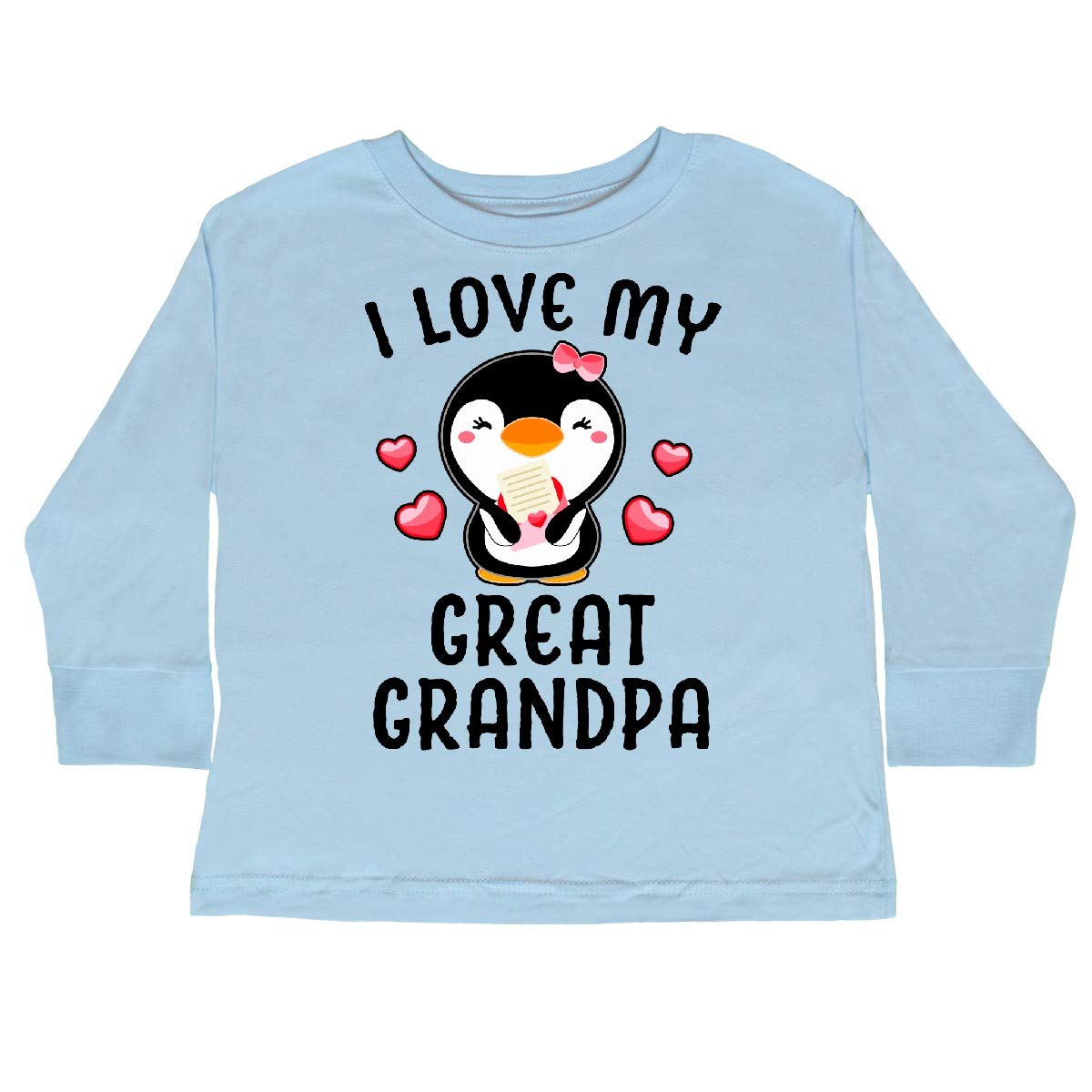inktastic I Love My Great Grandpa with Cute Penguin Toddler Long Sleeve T-Shirt