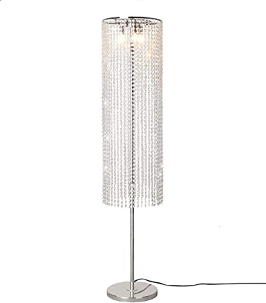 Surpars House Raindrop Crystal Floor Lamp On Off Switch In Line Silver Amazon Com