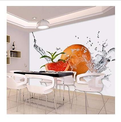 Amazon.com: Dalxsh 3D Murals Water Drop Fruit Orange 3D ...