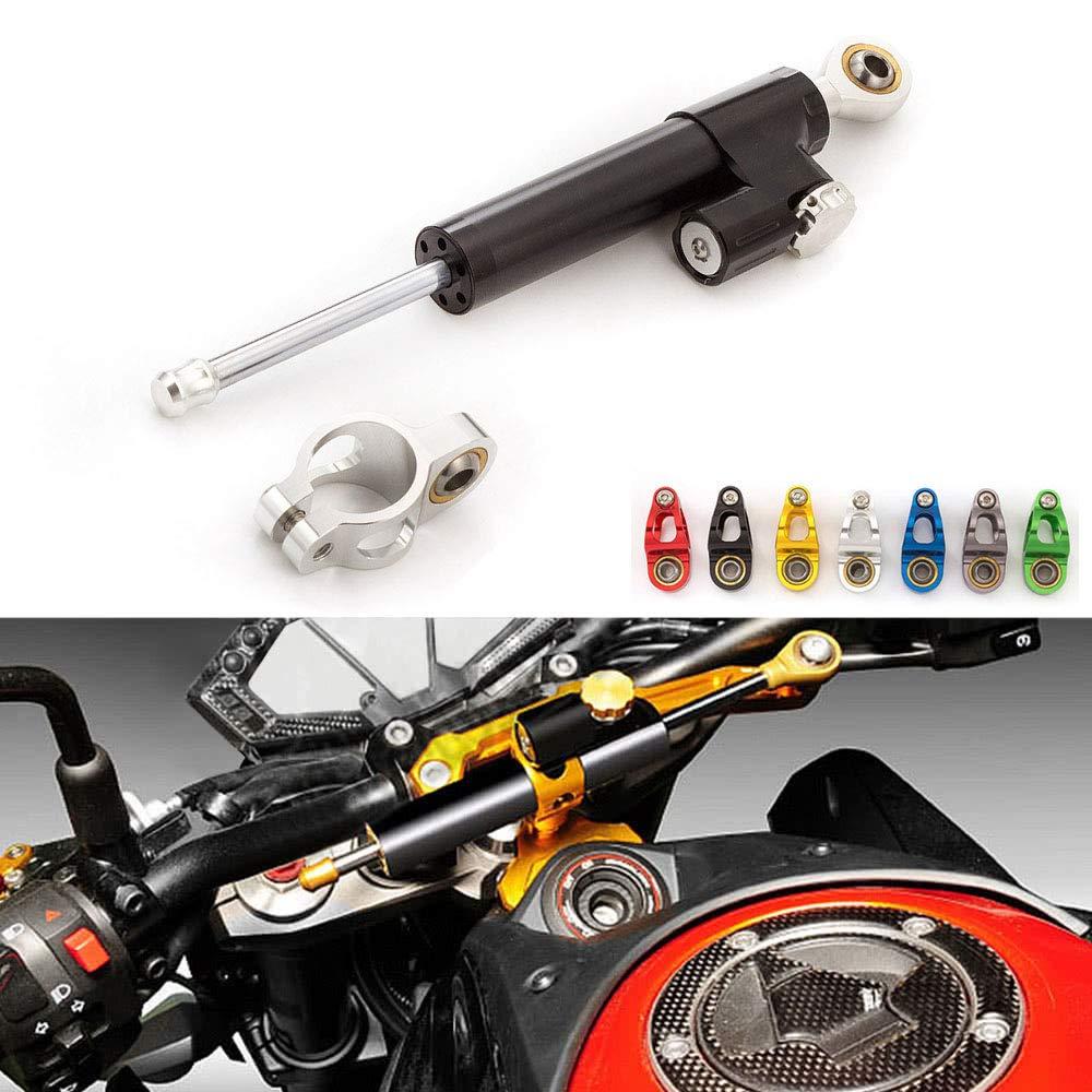MFS MOTOR Universal CNC Motorcycle Damper Steering Stabilizer Reversed Safety Control with Bracket For Honda Kawasaki Suzuki Yamaha