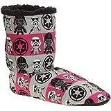 Star Wars Womens Silky Suede Fuzzy Babba Bootie Slipper Socks (S/M 5-7.5)