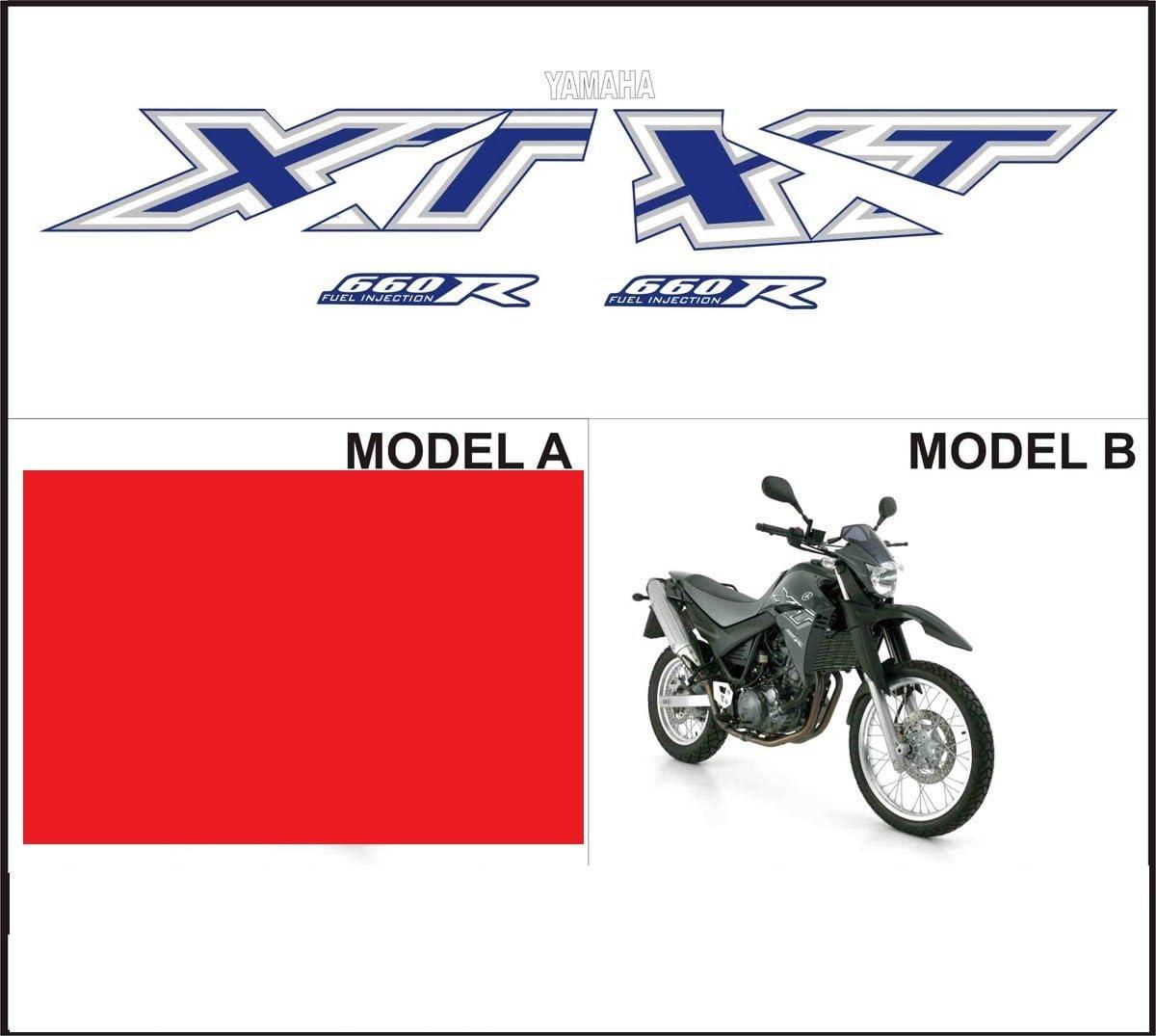 Kit adesivi decal stikers compatibile XT 660 R 2005 MOD.B BLACK MOTO
