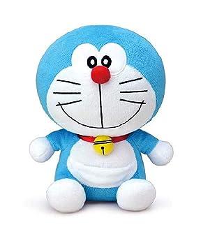 HIMSHIKHAR Toys || Premium Quality Cute Smiling Doraemon Cartoon Animal Figure Sitting Style for Baby | Birthday Gift for Kids - Blue and White (1 Feet)