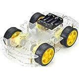 DollaTek Smart Motor Robot Car Battery Box Kit de Chasis Speed Encoder para Arduino - Quattro Pneumatici
